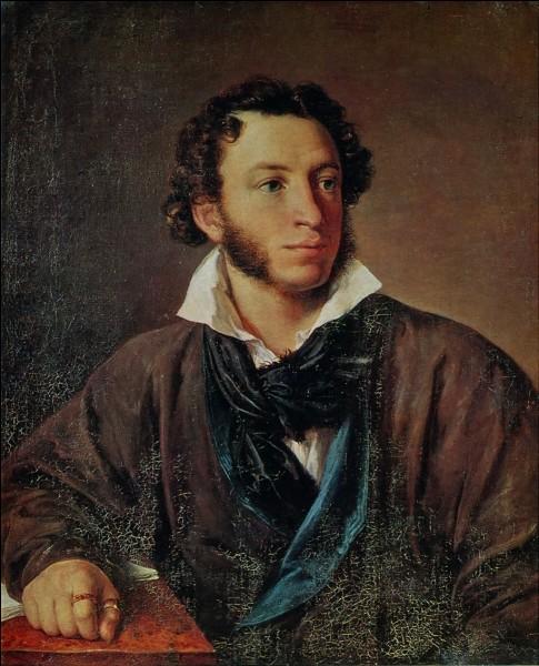 """Cet écrivain russe poète et dramaturge, auteur de """"Boris Godounov"""" et de """"Eugène Onéguine"""", c'est ... Pouchkine."""