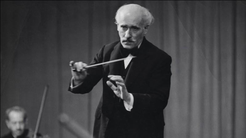 Ce célèbre chef d'orchestre italien, c'est ... Toscanini.