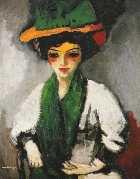 """A quel peintre doit-on le tableau """"Jeune femme au chapeau vert"""" ?"""