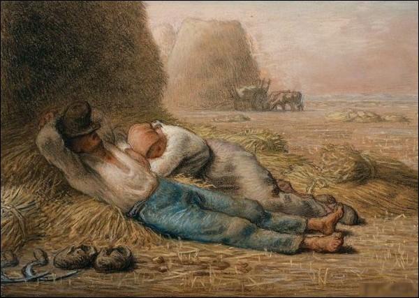 """""""La sieste"""" est l'œuvre de ..."""