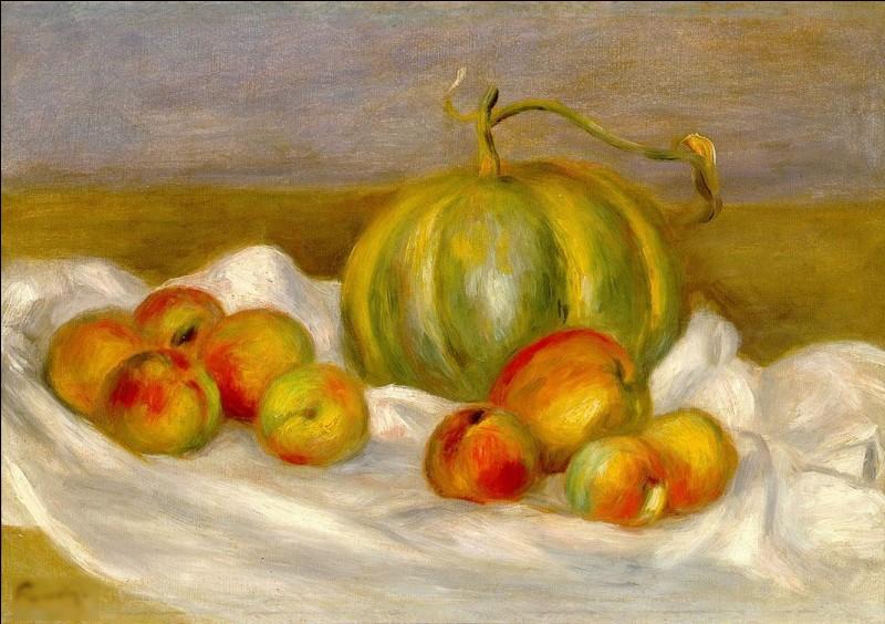 """Qui est l'auteur du tableau """"Nature morte au melon"""" ?"""