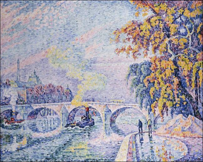 """Qui a réalisé l'œuvre pointilliste """"Pont Royal, Automne"""" ?"""