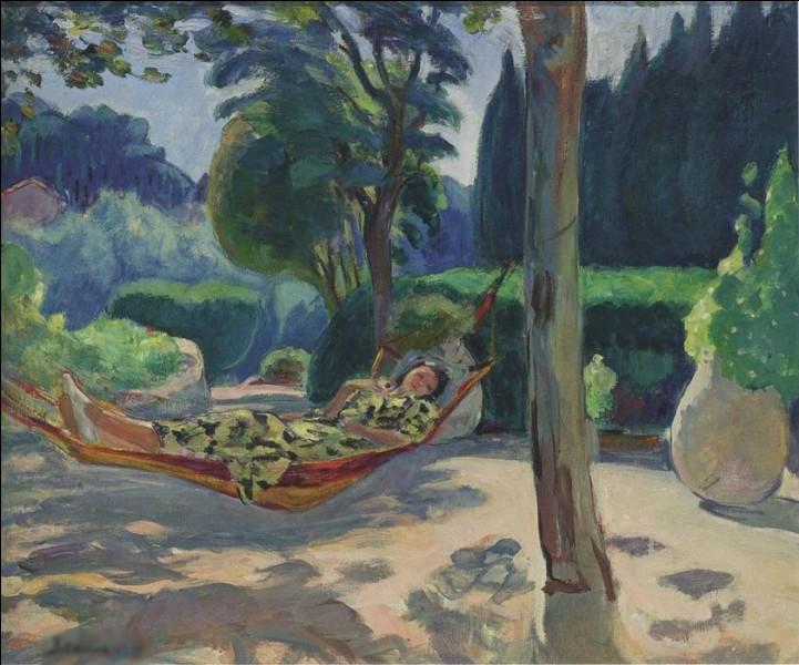 """Quel peintre est l'auteur du tableau """"Jeune femme dans un hamac"""" ?"""