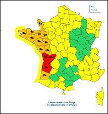 Si vous additionnez les numéros des départements de la Charente et de la Charente-Maritime, le résultat obtenu donne le numéro d'un département qui se situe dans la même région que ceux-ci.