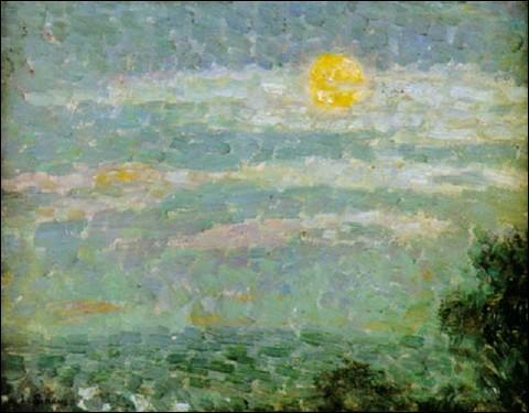 "Qui a peint ""Ciel de lune à Gerberoy"" ?"