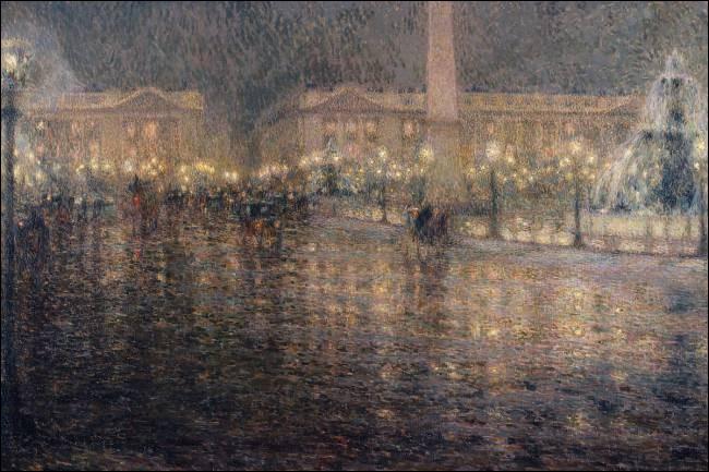 """Qui a peint """"La Place de la Concorde au clair de lune"""" ?"""