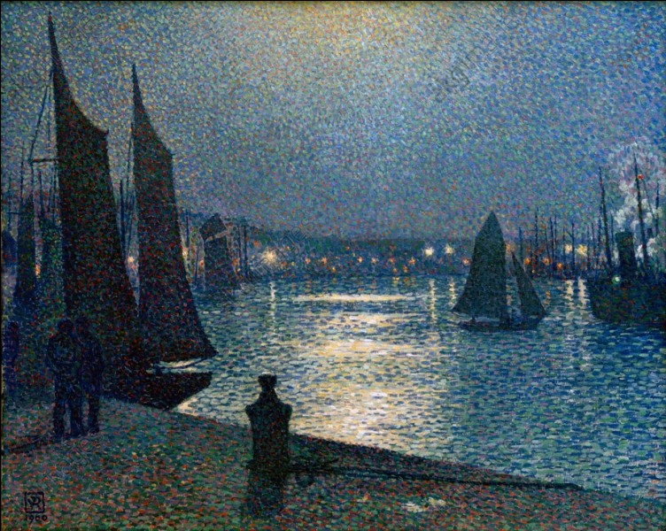 """Qui a représenté """"la Pleine Lune dans le port de Boulogne"""" ?"""