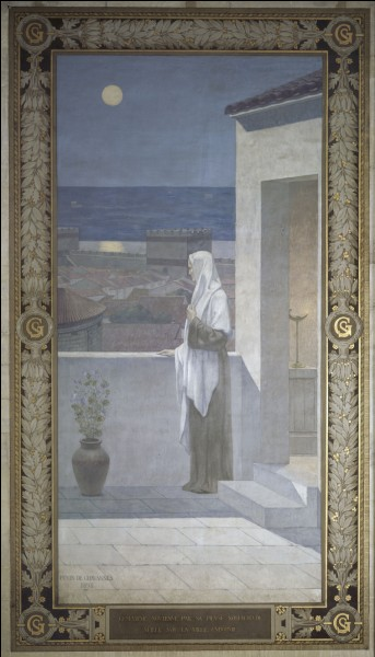 """Au loin la lune et """"Sainte Geneviève veillant sur Paris"""". De qui est cette œuvre ?"""