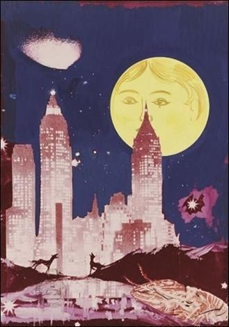 """Qui a peint """"La lune - Manhattan skyline"""" ?"""