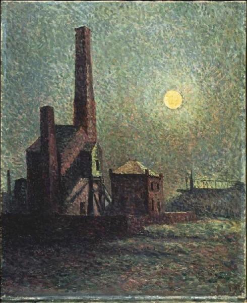 "Qui a peint ""Clair de lune au-dessus l'usine"" ?"