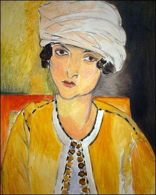 "Qui a peint "" Laurette au turban blanc et veste jaune"" ?"