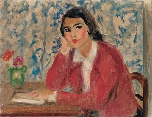 """Qui a peint """"Jeune femme brune à la veste rouge"""" ?"""