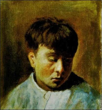 """Qui a peint """" Portrait de jeune homme pensif à la veste bleue"""" ?"""