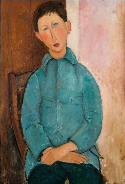 """Qui a peint """"Garçon à la veste bleue"""" ?"""