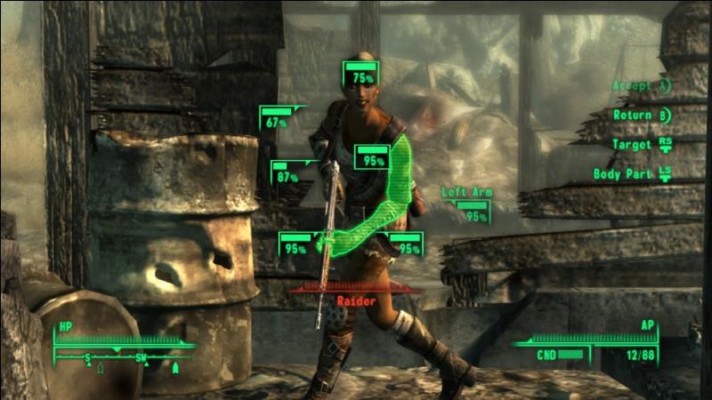 Comment se nomme la mécanique de Gameplay propre à la série ''Fallout'' qui permet de ralentir le temps pendant les affrontements ?