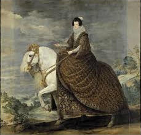 Peint entre 1628 et 1636, ''La reine Isabelle de France à cheval'' est un portrait équestre de la reine Isabelle de Bourbon, qui régna avec le roi Philippe IV d'Espagne, sur ce pays ainsi que sur le Portugal, la Sicile et Naples de 1621 à sa mort en 1644. Quel baroque a dépeint cette dirigeante sur son cheval ?