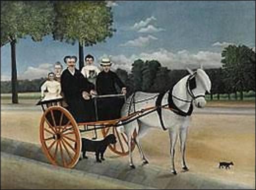 Conservée au musée de l'Orangerie, ''La Carriole du Père Junier'' est une toile datant de 1908. Quel peintre naïf a immortalisé cette scène ?