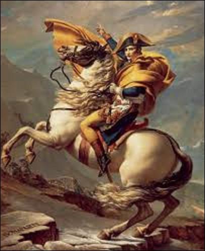 Réalisé entre 1800 et 1803, alors qu'il n'est que Premier consul, ''Bonaparte franchissant le Grand-Saint-Bernard'', est un tableau représentant l'empereur franchissant ce col alpin par l'armée de réserve, marquant ainsi le début de la seconde campagne d'Italie. Quel peintre néo-classique a immortalisé cet événement ?