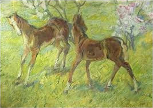 Quel expressionniste a peint en 1909 ce tableau intitulé ''Jeunes poulains'' ?