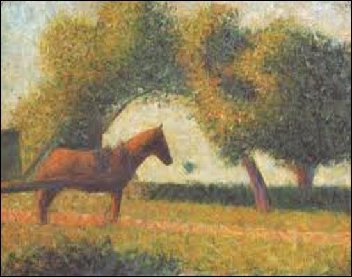 ''La Charrette attelée'' est un tableau peint en 1883 par un pointilliste. Quel peintre a réalisé cette toile ?