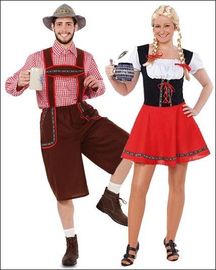 """Le costume traditionnel bavarois (""""trachten"""") se compose du """"Lederhose"""" (pour les hommes) et du """"Dirndl"""" pour les femmes. Il se porte de plus en plus mais les Allemands le portent surtout lors de quelle fête ?"""