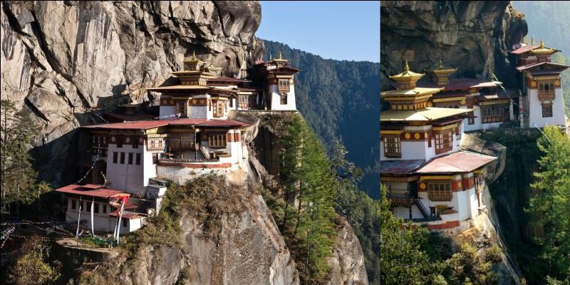Avez-vous le vertige ? Avez-vous des problèmes pulmonaires ? Si oui, ce n'est pas judicieux de s'y rendre ! Sachez que le Guru Rimpoche, venu à dos de tigresse volante (suivant la légende), aurait médité pendant 3 ans, 3 mois, 3 jours et 3 heures pour convertir la région au Bouddhisme !Où sommes-nous ?