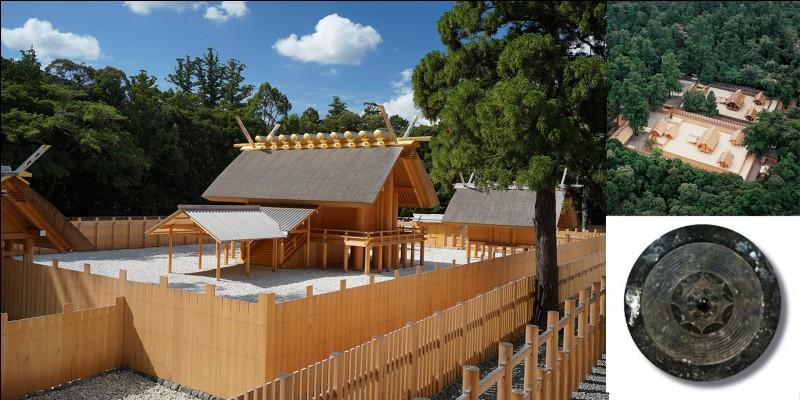 Allons au Japon et plus particulièrement au sanctuaire d'Ise (Ise-jingū ou Ise daijingū). Ce sanctuaire est un lieu de culte du shintoïsme, religion traditionnelle de ce pays. Ce sanctuaire aurait plus 2000 ans d'histoire.Parmi ces trois propositions, laquelle NE PEUT PAS caractériser ce sanctuaire ?