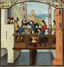 Durant cette guerre intestine, le futur Charles VII, alors simple dauphin, sera présent lors de l'assassinat d'un grand de ce parti (Q10). A Montereau, le 10 septembre 1419, il assiste (participe ?) au meurtre de ...
