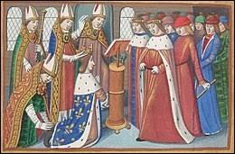 """Ce fut le début de la """"remontada"""" ! Orléans est libérée le 8 mai 1429, puis c'est la victoire de Patay (18 juin 1429). Quelques jours plus tard, les armées de Charles VII menées par Jeanne d'Arc partent de Gien. Le but de se périple est :"""