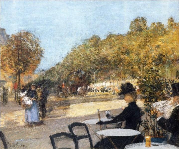 """""""Au café"""" est l'œuvre de quel impressionniste américain ?"""