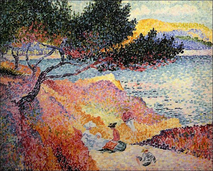 """Qui a peint l'œuvre pointilliste """"La plage de Saint-Clair"""" ?"""