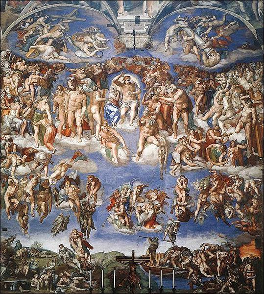 Où se trouve la célèbre fresque du jugement dernier de la Chapelle Sixtine peinte par Michel Ange?