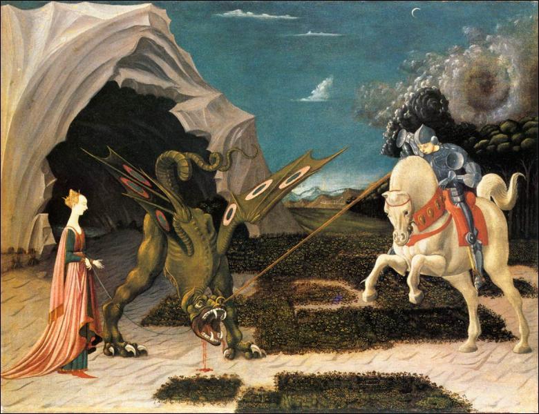 Qui a peint cette oeuvre 'Saint Georges et le dragon'?