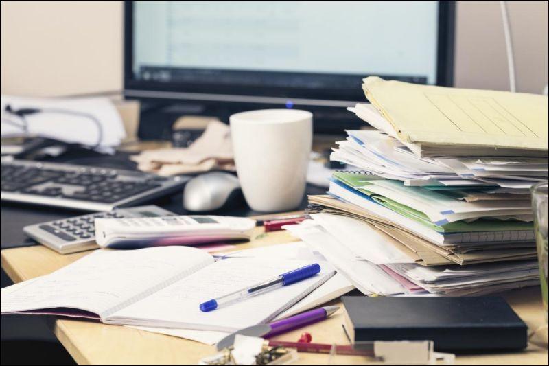 Dans quel état est ton bureau en général ?