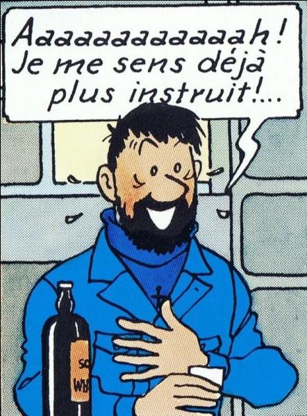 """Dans quel """"livre"""" le capitaine Haddock dissimule-t-il des bouteilles de whisky dans """"On a Marché sur la Lune"""" ?"""