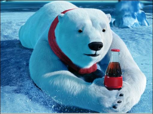 Quelle marque de soda utilise périodiquement un ours polaire dans ses campagnes publicitaires mondiales ?