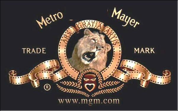 Quel est le nom de cette entreprise de production et de distribution de films qui utilise un lion pour sa publicité ?