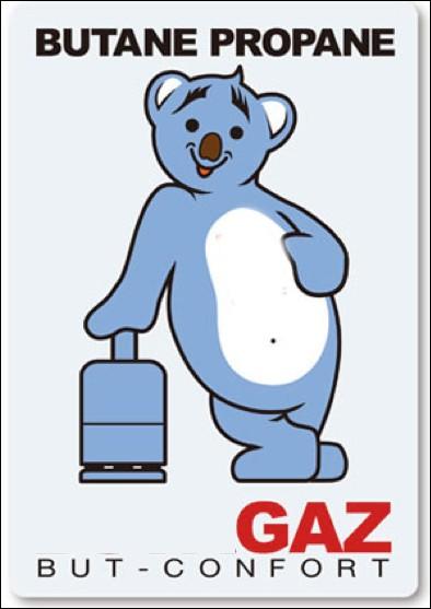 Quelle entreprise de gaz en bouteille utilise un ours bleu dans sa publicité ?