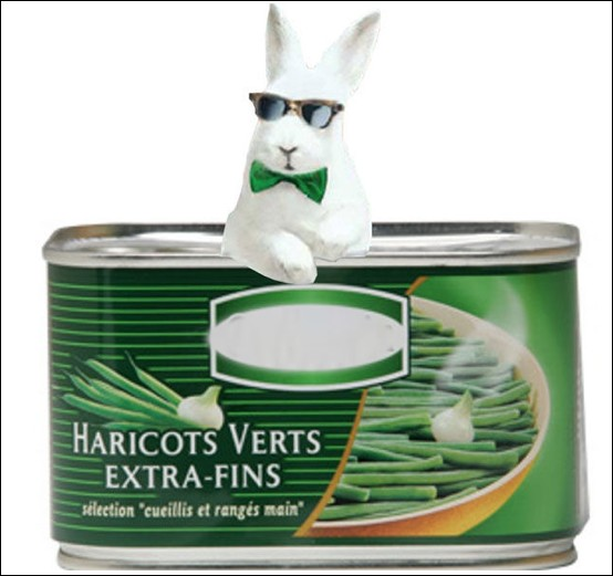 Quelle entreprise de conserverie utilise un lapin blanc dans ses publicités ?
