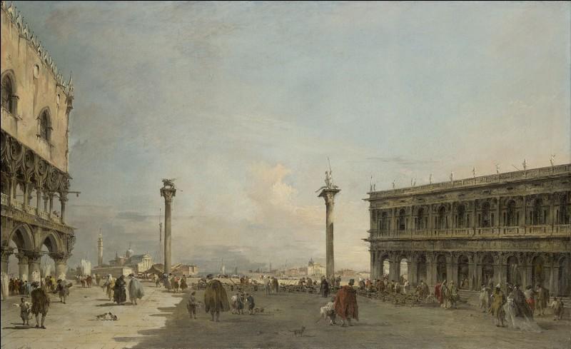 À quel artiste doit-on cette vue de la Piazetta de Venise ?