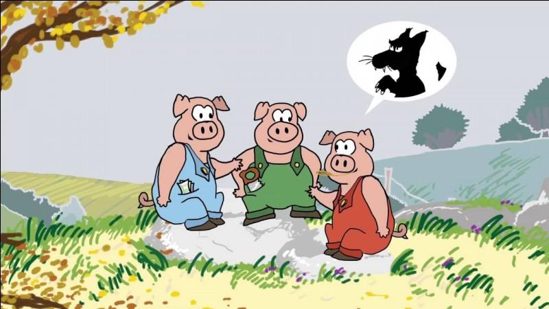 Dans ''Les trois petits cochons'', en quoi fabriquent-ils leurs maisons ?