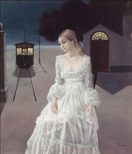 """Quel artiste surréaliste, connu pour avoir peint de nombreux trains et squelettes, a peint """"La Robe de mariée"""" ?"""