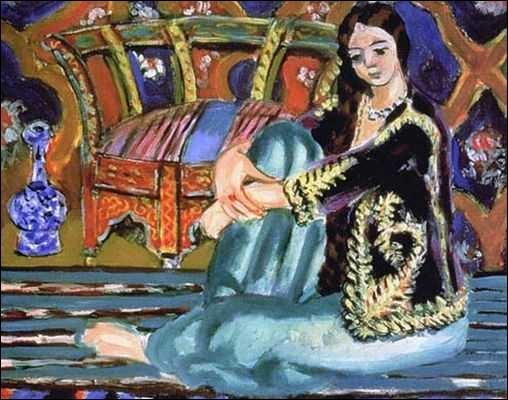 """Quel peintre appartenant au fauvisme, a réalisé une série d'odalisques, dont cette toile intitulée """"Odalisque assise"""" ?"""