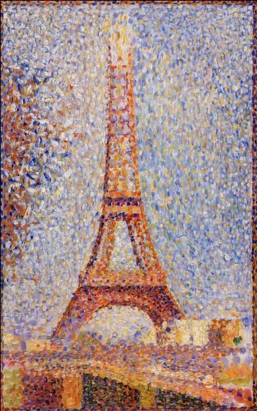 """Quel chef de file du pointillisme a peint """"La tour Eiffel"""" ?"""