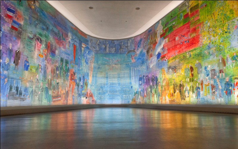 En 1937, sur le thème de l'électricité, il réalisa une œuvre légendaire et monumentale pour l'exposition internationale. Quelle est la surface de cette œuvre ?