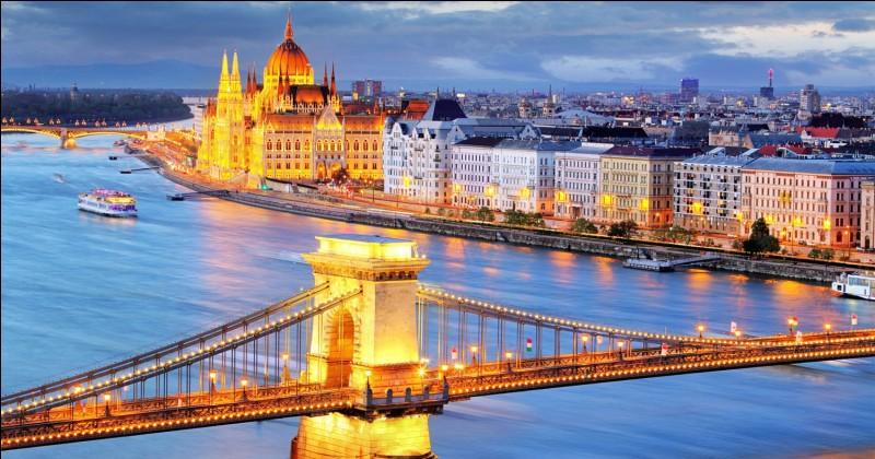 Laquelle de ces quatre capitales européennes n'est pas desservie par le Danube ?