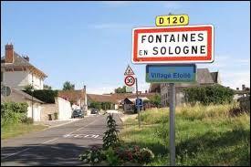 Nous sommes à présent dans le Centre-Val-de-Loire, à l'entrée de Fontaines-en-Sologne. Commune de l'arrondissement de Blois, elle se situe dans le département ...
