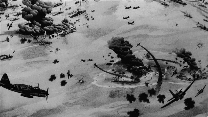 Engagement aéronaval au Pacifique, opposant les États-Unis au Japon. Initiative du commandant Yamamoto et malgré des moyens énormes engagés par la marine japonaise, avec près de 200 unités navales, la division de leurs forces fit que l'aviation américaine coula les 4 principaux porte-avions japonais. Nommez cette bataille qui mit un terme à la supériorité des forces japonaises dans le Pacifique.