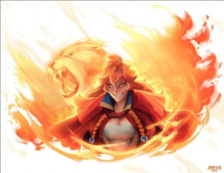 Je vous présente la femme la plus crainte et l'une des plus puissantes mages du royaume. Elle occupe aussi le rôle du capitaine de la compagnie du Lion Flamboyant. Comment se nomme-t-elle ?