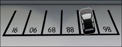 Sur quel numéro la voiture est-elle stationnée ?